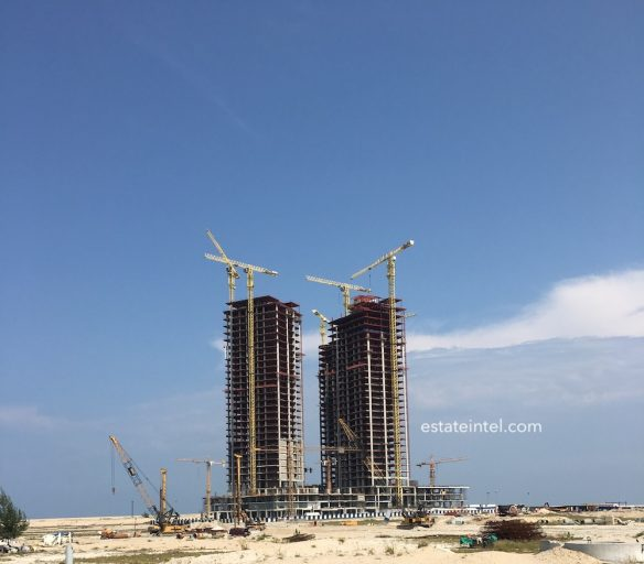 June 2018. Development: The Azuri Peninsula, Eko Atlantic - Lagos.