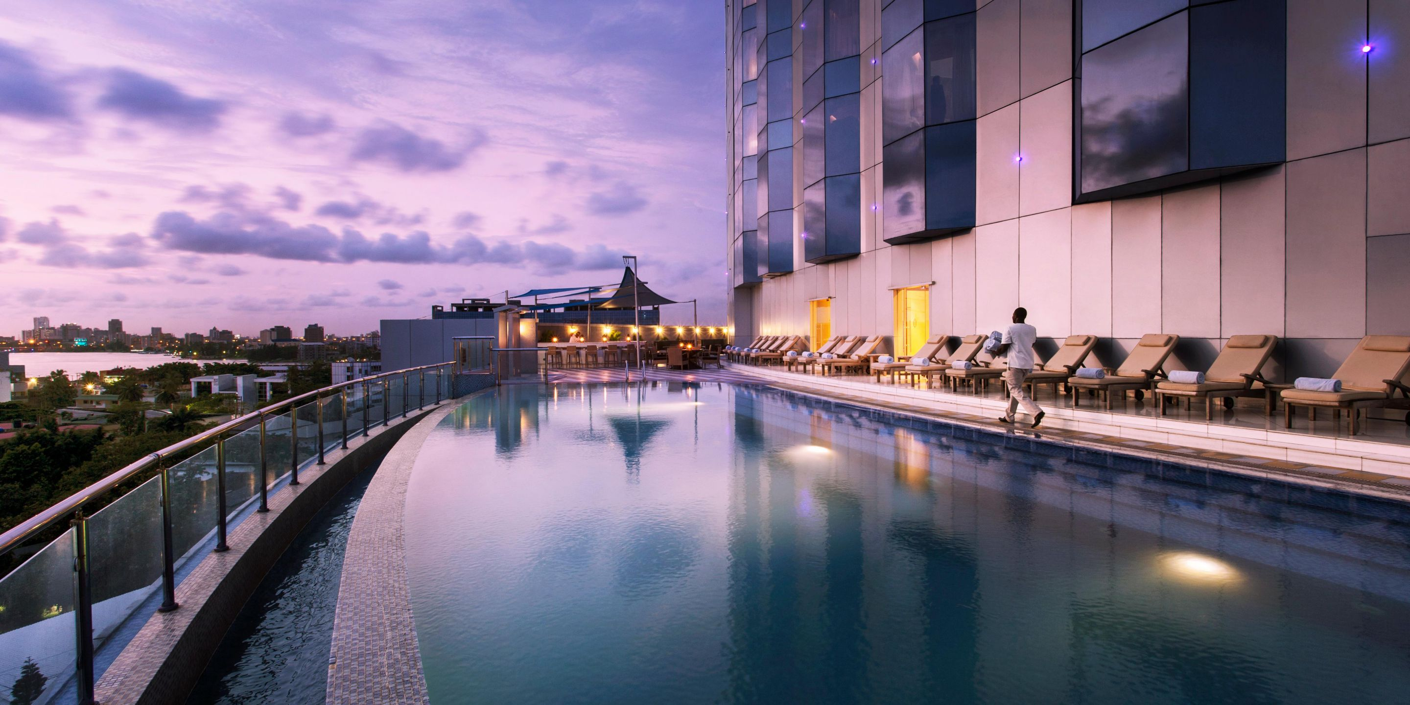 Swimming pool at the intercontinental hotel lagos image - Swimming pool industry statistics ...