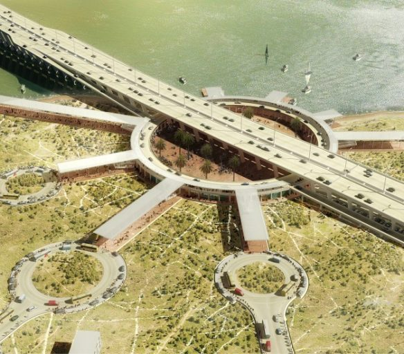 Artist Illustration of 4th Mainland Bridge. Not Actual Design.
