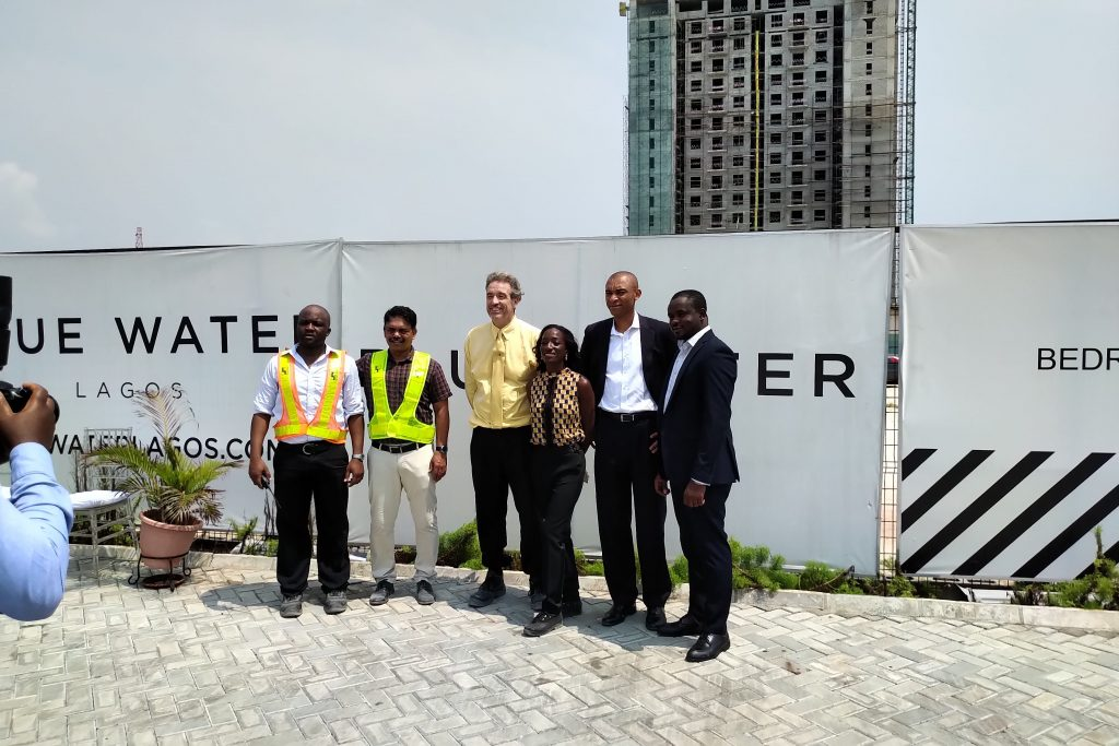 Sapphire Tower in Blue Water Residences Lekki Development Topped Out