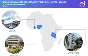 Infographic from Fund factsheet on Sanlam Africa Core Real Estate Investments Limited