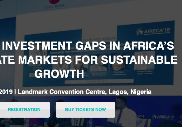 African Real Estate Conference & Awards, AFRECA'19