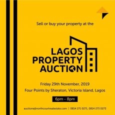 Lagos Property Auction Flyer by Northcourt Real Estate