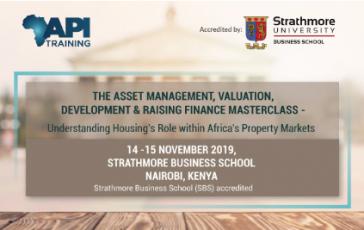 Asset Management, Valuation, Development & Raising Finance Masterclass - Understanding Housing's Role within Africa's Property Markets Masterclass event banner