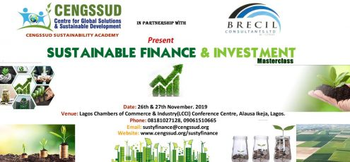 Sustainable Finance & Investment Masterclass event