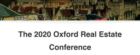 The 2020 Oxford Real Estate Conference