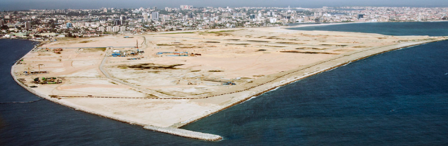 Eko Pearl Towers, Eko Atlantic, Lagos - March 2016. Image Source: www.linkedin.com/company/eko-atlantic