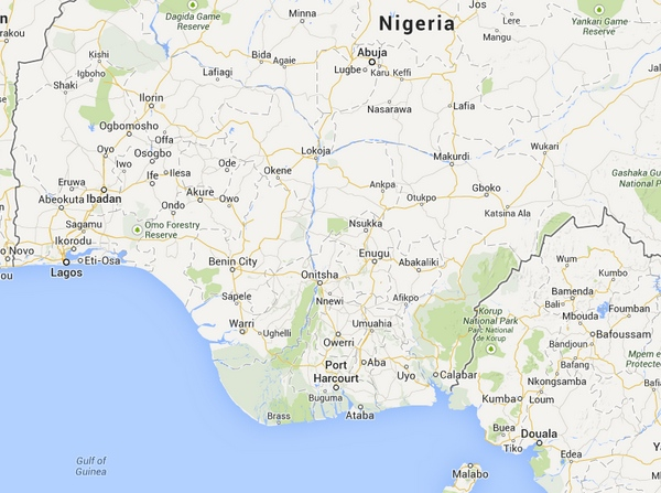 Nigeria with Onitsha Shown niger-bridge real estate nigeria lagos abuja property news update research