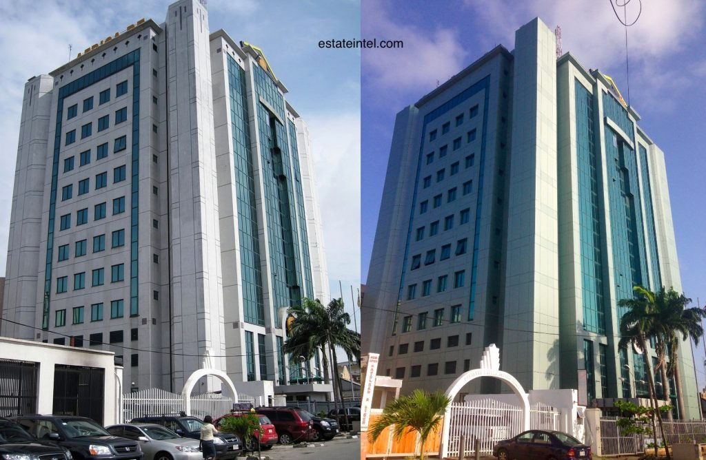 Africa Re Building Victoria Island, Before and After