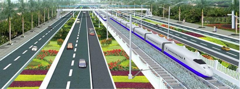 Lagos Urban Rail Network. Blue Line Station.