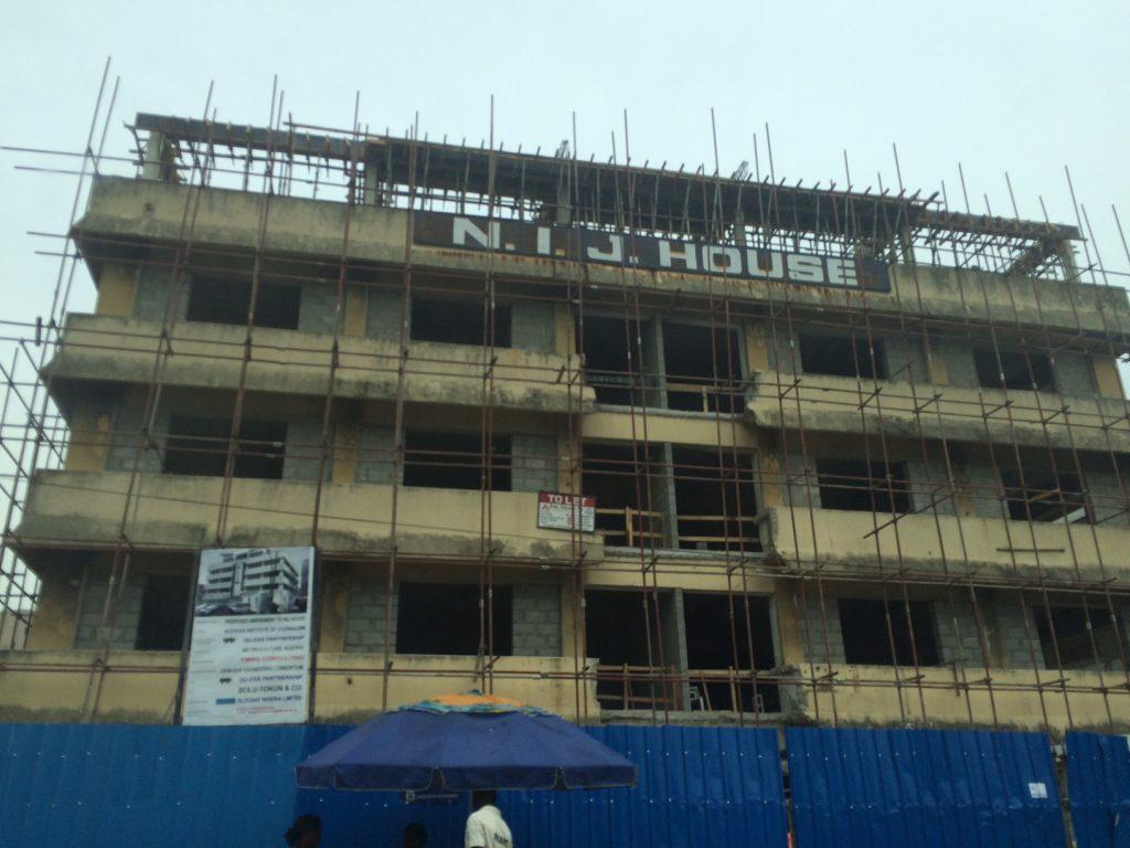 Renovation: N.I.J House, Adeyemo Alakija Street, Victoria Island - Lagos. May 2015