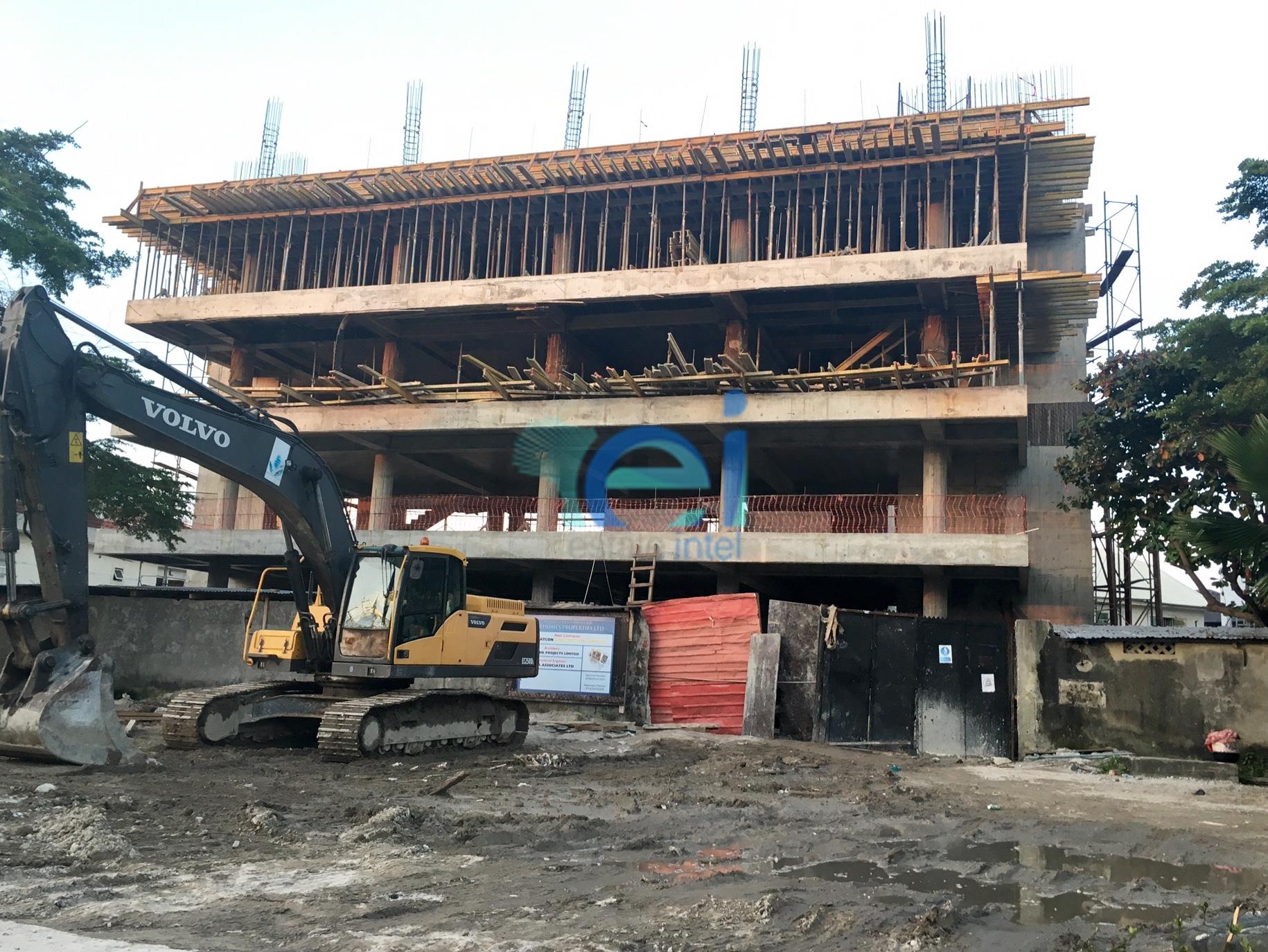 Development: 5 Floor Office Project, Admiralty Way - Lekki Phase 1. September 2016.
