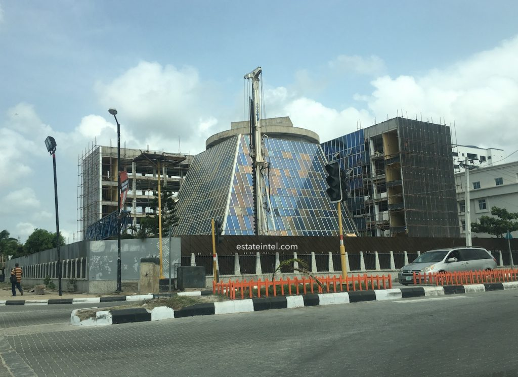 March 2017. Photos: The Iconic IMB Plaza in Victoria Island is being Renovated