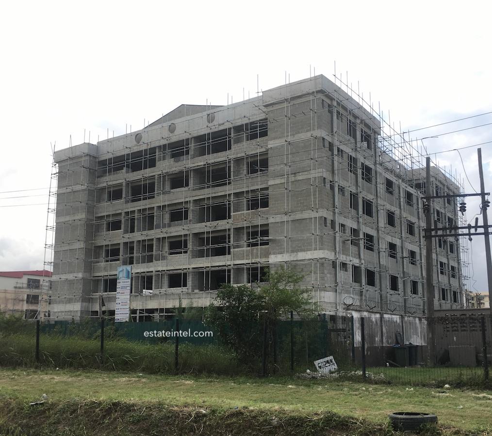 August 2018. Development: 6 Floor Office Development, Ikate, Lekki Epe Expressway - Lagos
